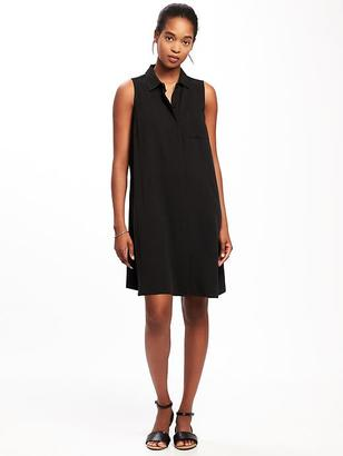 Sleeveless Swing Shirt Dress for Women $12 thestylecure.com