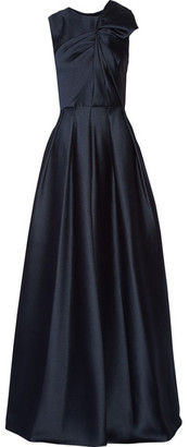 Jason Wu - Gathered Satin-crepe Gown - Midnight blue $3,495 thestylecure.com