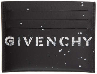 Givenchy Black Graffiti Graphic Card Holder