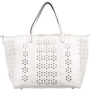 Valentino Perforated Floral Tote
