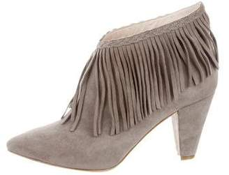 Anine Bing Pointed-Toe Fringe Booties w/ Tags