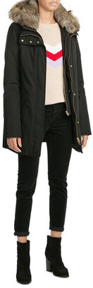Woolrich Down Parka with Fur-Trimmed Hood $989 thestylecure.com