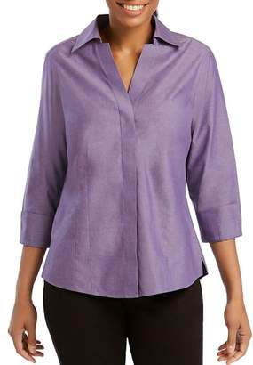 Foxcroft Concealed Button-Down Top