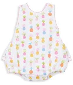 Kissy Kissy Pineapple Cross Back Bubble Romper