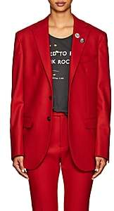 R 13 Women's Wool-Blend Two-Button Boyfriend Blazer - Red
