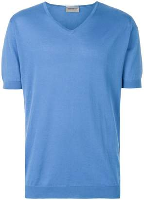John Smedley short sleeve V-neck sweater