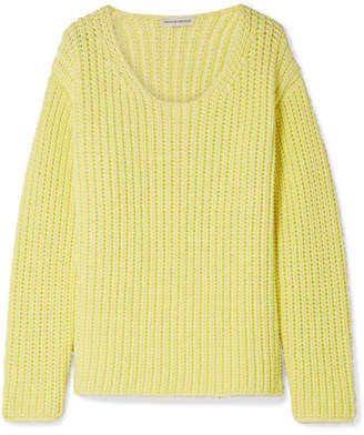 Cotton-blend Sweater - Bright yellow