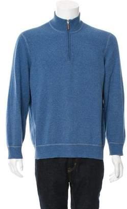 Brunello Cucinelli Half-Zip Wool Sweater