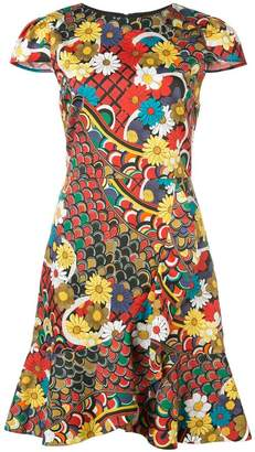 Alice + Olivia Alice+Olivia Kirby floral print dress