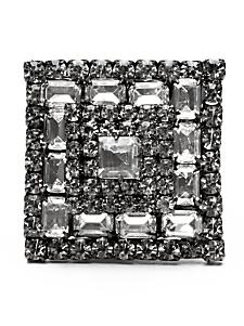 Elizabeth Cole Crystal Pyramid Ring