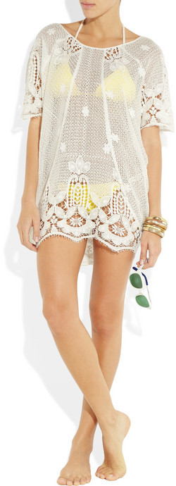 Miguelina Jessica crochet cotton-lace tunic