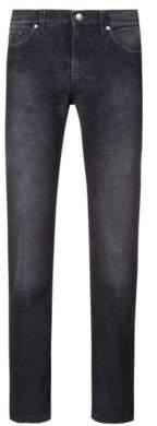 HUGO Boss Straight-leg jeans in superfine corduroy 32/34 Charcoal