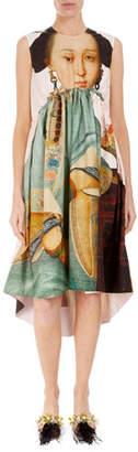 Simone Rocha Sleeveless Round-Neck Empire Waist Dress