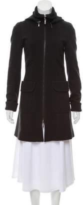 Theory Zip-Up Knee-Length Coat