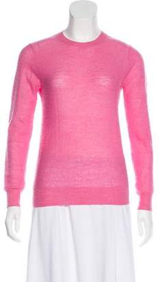 Enfold Semi-Sheer Wool Sweater