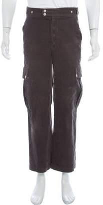 Moncler Gamme Bleu Corduroy Cargo Pants