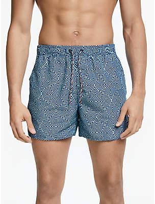 Vintage Print 14 Swim Shorts