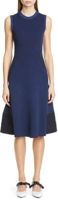 Proenza Schouler Mixed Stitch Colorblock Sweater Dress