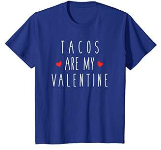 Tacos Are My Valentine Food Funny Heart Humor Tee