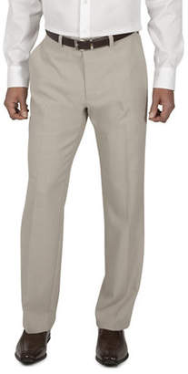 Haggar Micro Straight-Fit Neat Dress Pants