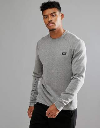 Jack Wills Sporting Goods Whellock Sweater In Gray