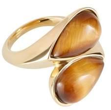 Amanda Wakeley Gold Tiger Eye Ring
