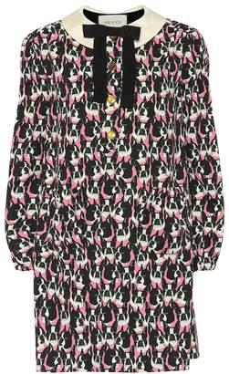 Gucci Dog-printed cotton dress