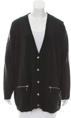 Michael Kors V-Neck Button-Up Cardigan