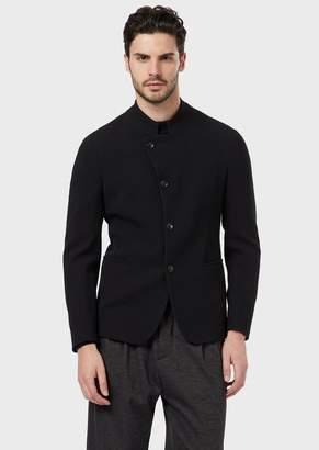 Giorgio Armani A Slim-Fit Single-Breasted Jacket In Stretch Virgin Wool Creponne