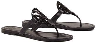 Tory Burch MILLER EMBELLISHED SANDAL, LEATHER