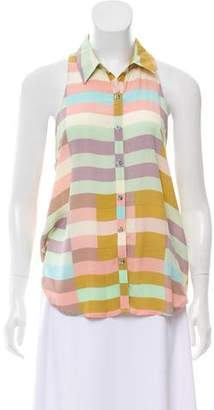 Mara Hoffman Sleeveless Button-Up Blouse