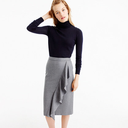 J.CrewCollection skirt in Italian wool flannel
