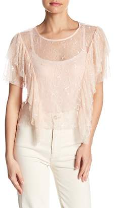 OnTwelfth Ruffled Lace Top