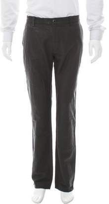 John Varvatos Virgin Wool-Blend Straight-Leg Pants