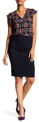 Philosophy Apparel Solid Midi Pencil Skirt