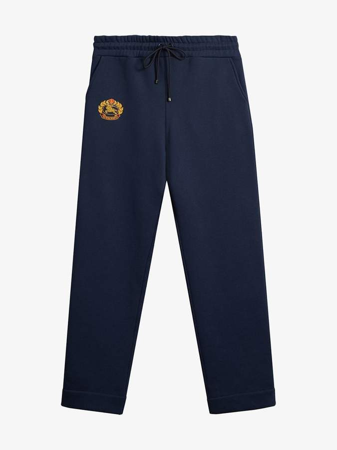 Embroidered logo jersey sweatpants