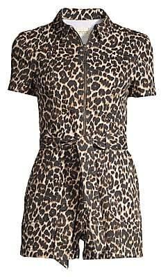 Alice + Olivia Jeans Jeans Women's Leopard Short Romper