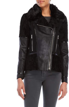 Vince Camuto Black Faux Shearling Jacket