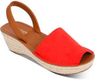 880fd7e479ba Kenneth Cole Reaction Women Fine Glass Platform Wedge Sandals Women Shoes