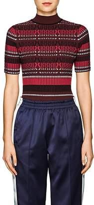 Opening Ceremony Women's Striped Knit Mock Turtleneck Sweater