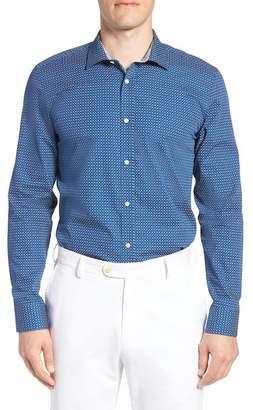 Ted Baker Micro Geo Endurance Slim Fit Dress Shirt