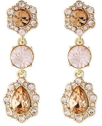 Givenchy Gold-Tone Crystal-Accented Drop Earrings