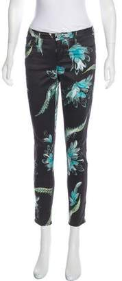 Marchesa Voyage Printed Mid-Rise Pants