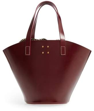TRADEMARK Large Leather Bucket Bag