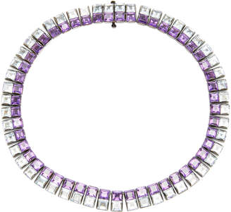 Lynn Ban Jewelry Riviere Amethyst and Aquamarine Necklace