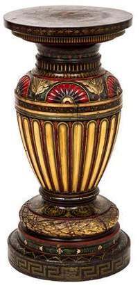 Antique Painted Wood Pedestal