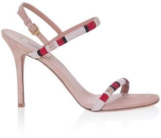 Valentino Crystal Embellished High Heel Sandals