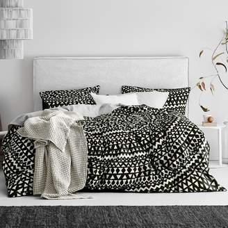 Inca Black Cotton Quilt Cover Set