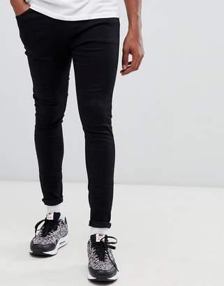 Bershka super skinny jeans in black