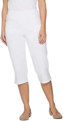 Denim & Co. Pull-on Stretch Capri Pants with Crochet Detail